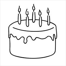 Tổng hợp 50 bức tranh tô màu bánh sinh nhật cho bé trai và bé gái tập tô  trong 2021   Sinh nhật, Bánh sinh nhật, Bé gái