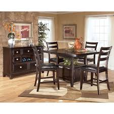 tall dining chairs counter: ridgley counter height dining room set signature design by ashley furniture