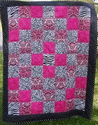 Lap Quilt Cheetah Pink Print Zebra Print Black by beyondquilts ... & Lap Quilt Cheetah Pink Print Zebra Print Black by beyondquilts, $54.95 Adamdwight.com