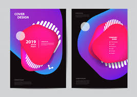 Pamphlet And Brochure Poster Flyer Pamphlet Brochure Cover Geometric Bubbles