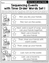 Sequencing Anchor Chart Time Order Words Sada Margarethaydon Com