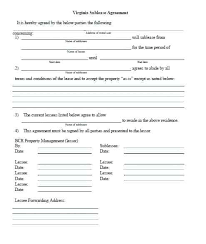Apartment Sublease Template Apartment Sublease Contract Agreement Template Lease Sublet Rental