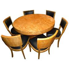 art deco round mid century dining table and chairs for
