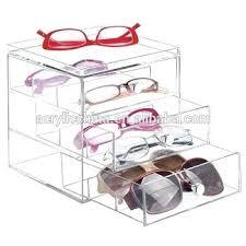 acrylic storage box eyeglass display case frame cabinets furniture