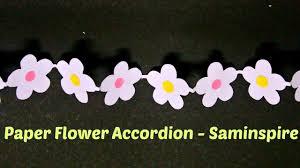 Paper Flower Garland How To Make A Flower Accordion Paper Flower Garland Saminspire