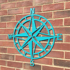 steel nautical star compass wall art nautical decor metal wall art lake house decor beach house decor outdoor metal wall art