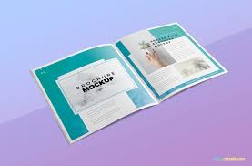 Smart objects allows you to edit mockup very easily. Free Square Brochure Mockup Zippypixels