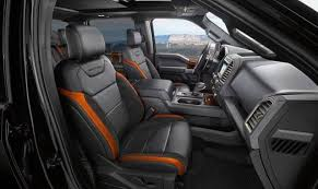2018 Ford Raptor pickup truck interior seats | Gas Pages