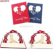 3d Pop Up Greeting Card Anniversary Valentines Wedding Invitation
