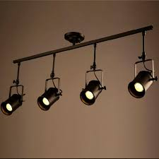 vintage track lighting. $410.52- Retro Loft Vintage Led Track Light Industrial Ceiling Lamp Bar Clothing Personality Spotlight Lighting E