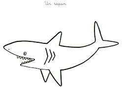 Dessin Colorier Requin Imprimer