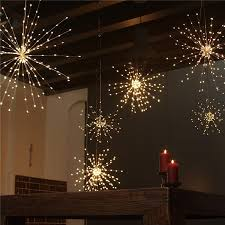 battery operated decorative led lights 180led firework shaped copper wire mini led string light with remote control for garden patio wedding led string led