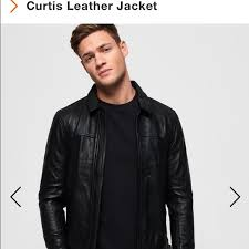 Superdry Jacket Size Chart Nwt Superdry Curtis Leather Jacket Nwt