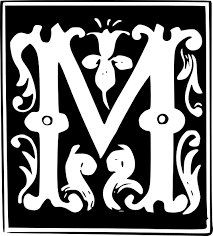 fancy letter m decorative letter set m clip art at clker com vector clip art