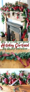 Step-by-step tutorial teaching you how to put together a stunning Christmas  garland