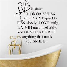 life is short vinyl wall stickers quotes removable decorative decals
