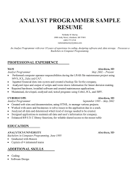 Resume For Analyst Position Fresh Decoration Data Analyst Job