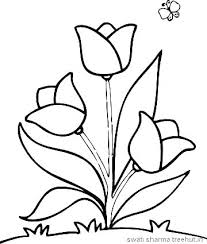 Printable Flower Coloring Pages Pdf Simple Flower Coloring Pages