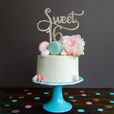 Home Furniture Diy Sweet 16 Name Glitter Cake Topper Birthday