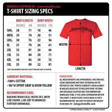 Tee Shirt Size Chart Skull Hard Cotton T Shirt