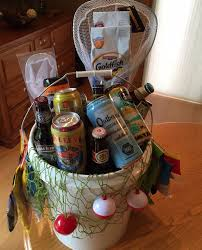 Beer fishing bucket, fill with fishing gear, snacks, and beer! Great for
