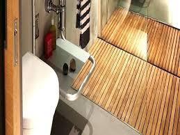 teak shower floor bamboo mat custom insert