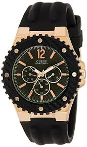 guess archives latest watches uk guess gvss5 men s quartz watch black dial analogue display and black rubber bracelet w12653g1