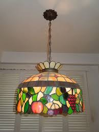 authentic somers antique style tiffany lead stained glass chandelier val 3 600