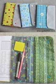 tutorial position book cover with a clear vinyl pencil pouch sewing
