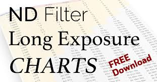 Nd Filter F Stop Chart Nd Filter Long Exposure Charts Free Download