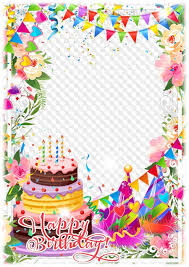 Beautiful Birthday Cake Photo Frame Transparent Png Frame Psd