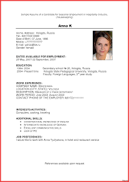 Housekeeper Resume Samples Free