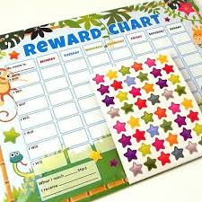 Childrens Jungle Themed 6 X Reward Charts Chore Charts With Stickers Pen 5012128483028 Ebay