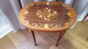 italian wood furniture. Italian Floral Marquetry Inlaid Wood Storage Music Box Occasional Table Furniture