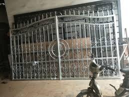 china custom security wrought iron gate