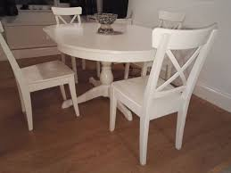 plain round interior white round dining table ikea gorgeous ik on room glamorous and chairs on