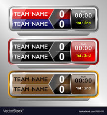 Scoreboard Template Icons Scoreboard Template Royalty Free Vector Image 5