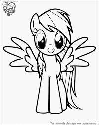 Kleurplaat My Little Pony Collectie Coloring Pages Rainbow Pony