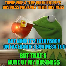 kermit meme none of my business blank. Just Got Out Of The Shower And About To Take In Kermit Meme None My Business Blank