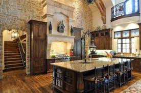 Tuscan Kitchens Picture Of Mediterranean Rustic Tuscan Kitchen With Stone Wall