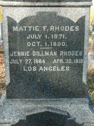 Mattie Florence Rhodes (1871-1890) - Find A Grave Memorial