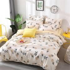 fruit pineapple bedding set quilt cover queen full king size children cartoon duvet cover set yellow