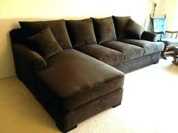 deep leather sectional extra