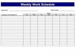 Work Schedule Template Word Excel