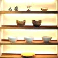 glass floating shelves kitchen floating glass shelves with lights floating shelf with lights shelves lighting concealed