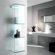 glass shelves for bathroom wall ideas home design shelf steel small decorative items holder modern mounted glass shelf