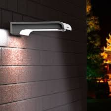 Solar Powered DualHead Outdoor Light With Motion Sensor Solar Powered Outdoor Security Light Motion Detection
