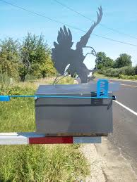 custom metal mailbox.  Mailbox Custom Steel Eagle Mailbox With Functioning  Inside Metal