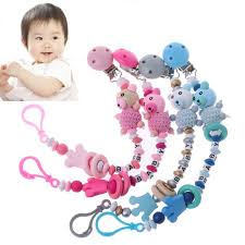 Baby <b>Pacifier Clip</b> Chain Infant Boys Girls Cute Cartoon Bear Letters ...