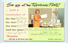 Tupperware Party Invitations Postcard Tupperware Party Invitation Advertising 1967 J11 Hippostcard